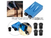 Woodworking Oblique Hole Locator with 6 Sleeves 15 Degree Angle Locator Oblique Hole Drill Metal Wood Tool