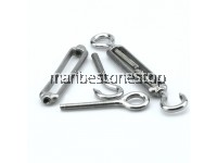 4MM, 5MM, 6MM, 8MM 304 STAINLESS STEEL HOOK & EYE TURNBUCKLE WIRE STRAINER TENSION