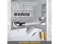 400MM 304 STAINLESS STEEL NYLON COATED GRAB BAR (WHITE)