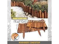 WOODEN GROUND FENCING GARDEN HOME DECORATION Flexible Round Wood Fence Pagar Kayu Wood Pile