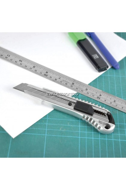 Heavy Duty 18mm CUTTER KNIFE Utility Knife Utility Cutter Knife auto loading design Replaceable Blade Metal Handle