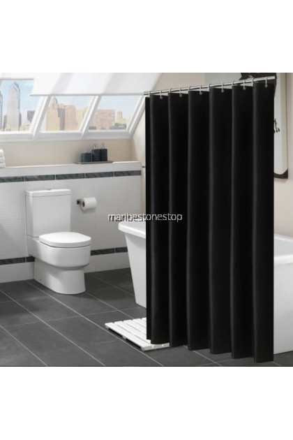180CM X 180CM BATHROOM SHOWER CURTAIN WATERPROOF WITH HOOK LANGSIR BILIK AIR MURAH PEVA KAIN RANDOM COLOUR / PATTERN