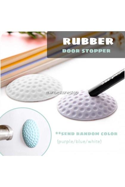 RANDOM COLOR Soft Rubber Pad Protect Wall Self Adhesive Door Stopper Golf Shape Door Fender Household Pemeganag Pintu
