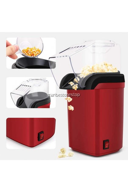 SK-299 Electric Popcorn Maker Automatic Machine Mesin Buat DIY 1200W Popcorn Maker Air Blowing Popper 爆米花机