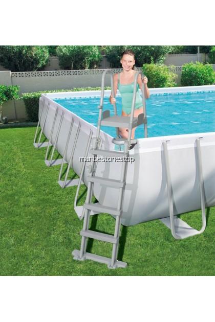 Bestway (BST-56465 / BST-56474 / BST-56623) Large Power Steel Frame Swimming Pool Rectangular Kolam Renang Paddling Pool