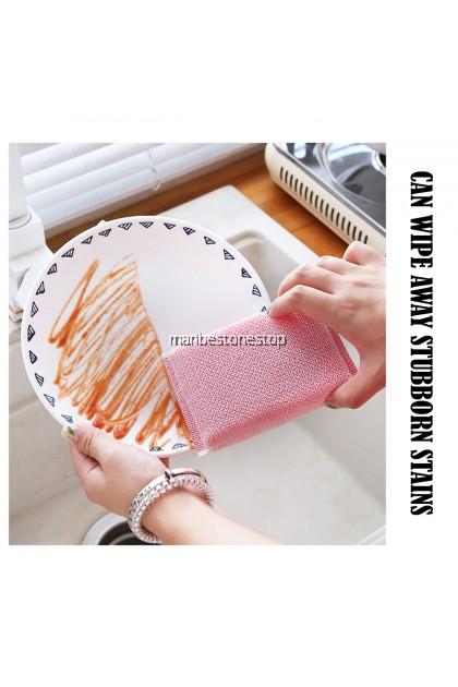 JTY-003 3PCS SCRUB SPONGE EXTRA THICK DISHWASHING SPONGE KITCHEN CLEANING SCOURING SPONGE 百洁布洗碗磨砂海绵三件套