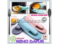 1 PC ANTI HEAT SILICONE GLOVE Kitchen Hand Glove Heat Slip Resistant Oven Baking Cooking Microwave Tool (RANDOM COLOUR)