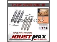 Screw Driver Drill Bit 10 pcs with Flat Cross Head Magnetic (4.5cm) and 10pcs Double Philips Cross Head Magnetic (5cm)