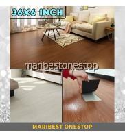 36x6inch SELF ADHESIVE PVC FLOOR MAT WOOD DESIGN 3D Printed Floor Vynil Tiles Office Room Kitchen Floor Lantai Kayu