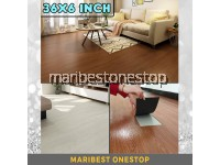 36x6inch SELF ADHESIVE PVC FLOOR MAT WOOD DESIGN 3D Printed Floor Vynil Tiles Office Room Kitchen Floor Lantai Kayu