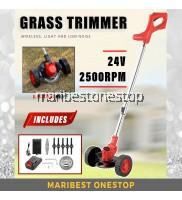 [ LDM-24-WHEEL ] 24V Grass Trimmer Mesin Rumput 1 Set Lown Mower Multi-function Household Grass Cutter