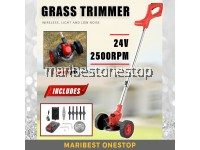 [ LDM-24-WHEEL ] 24V Grass Trimmer Mesin Rumput 1 Set Lown Mower Multi-function Household Grass Cutter