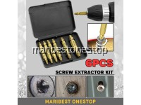 6pcs HSS 4341 DAMAGED SCREW EXTRACTOR Kit For Broken Damaged Screw Bolt Remover Tools