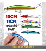 10cm 7.5g / 11cm 11g Fishing Bait Artificial Hard Bait With Hook 3D Eye Reflection Skin Minnow Type
