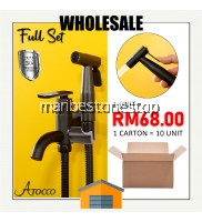 WHOLESALE 1 CARTON 10 UNIT BLK-304569SS BLACK OXIDE FULL SET 304 STAINLESS STEEL TWO WAY TAP BATHROOM FAUCET BIDET SPRAY AND FLEXIBLE HOSE
